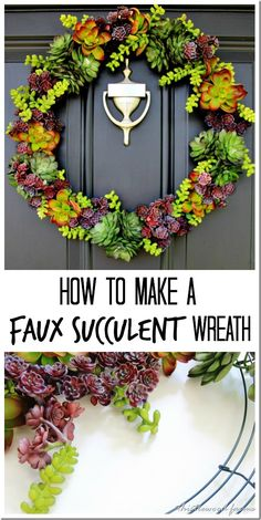 Faux Succulent Wreat