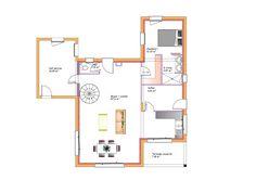 Modèles et plans de maisons \u003e Modèle à étage Inspiration étage toit plat.  Constructions Demeures Côte Argent