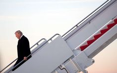 An Unfounded Claim's Journey From Talk Radio to Trump's Twitter -  March 5, 2017:     Mr. Trump arriving at Andrews Air Force Base on Sunday.