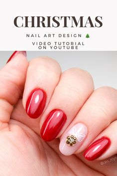 Christmas nail art design 🎄 TUTORIAL Christmas Nail Art Designs, Christmas Nails, Nail Art Designs Videos, Nails Design, Design Tutorials, Xmas Nail Art, Xmas Nails