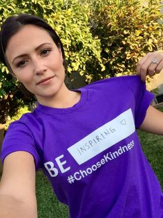 Italia Ricci is proud to support LGBT youth today for GLAAD's Spirit Day! #ChooseKindness #BeInspired   Chasing Life
