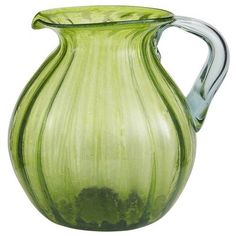 Green Chunky Optic Pitcher-this would look pretty sitting out