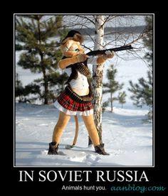 In Soviet Russia – Demotivational Poster