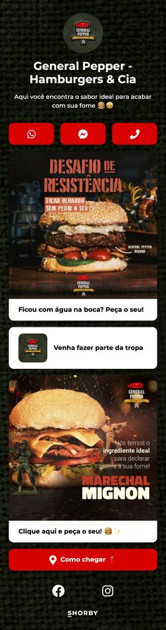 Aqui você encontra o sabor ideal para acabar com sua fome 🍔🤩 #pinterestinspired #foodie #restaurant #fooddelivery #burgers Burgers, Landing, Hamburger, Restaurants, Beef, Stuffed Peppers, Food, Hamburgers, Meat