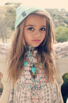 Designer SPOTLIGHT || NOXXaz Handcrafted Goods  Summer looks for the little's Mini Boho Princess. coachella vibes, outfit inspiration. Jewelry for girls, festival style.Cute kids, mini model. Beautiful People. Hair. Necklaces. Turquoise. Fringe. Kids beanies
