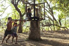 Boys in Nicaragua play on their version of a merry-go-round. #onesight #dayinthelife #nicaragua #socialgood