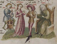 Thomasin <Circlaere>   Welscher Gast (a) Schwaben, um 1460-1470 Cod. Pal. germ. 320 Folio 10r