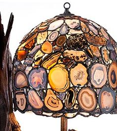 Jim Pape Agate Lamps, Luminaries and Window Art | Home