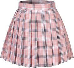 Pink Plaid Skirt, White Pleated Skirt, Plaid Skirts, Pleated Skirt Outfit Short, Plaid Skirt Outfits, Mode Kawaii, Cute Skirts, Short Skirts, Emo Outfits
