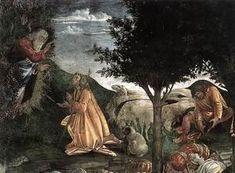Botticelli (Alessandro Filipepi). Scene della vita di Mosè (dettaglio 3) 1481-1482