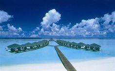 Maldives water bungalow