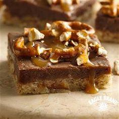 Chocolate Peanut Butter Pretzel Bars recipe from Eagle Brand® Sweetened Condensed Milk.