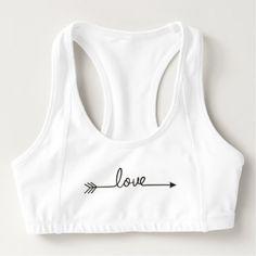 Love Arrow Sports Bra - love gifts cyo personalize diy