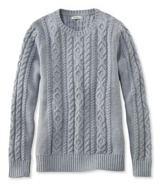 Find the best Women's Double L® Mixed-Cable Sweater, Crewneck at L. Our high quality Women's Sweaters are thoughtfully designed and built to last season after season. Fall Fashion Trends, Autumn Fashion, I Fall To Pieces, Preppy Sweater, Cable Sweater, Work Attire, Amazing Women, Plus Size Fashion, Sweaters For Women