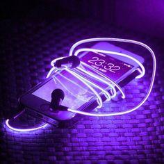 neon purple headphone cord ✰insta:@katedumas | pin: @k8dumas✰