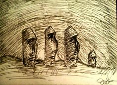 Easter Island drawing
