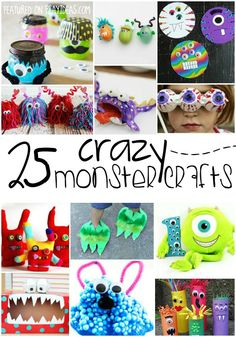 25 Crazy Monster Crafts for Kids. These crazy monster crafts are perfectly fun for your crazy kids. Click now!
