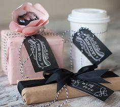 Chalkboard Gift Tags #cricut #craft