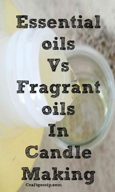 There's a bit of a debate about whether fragrance oil or essential oil is better when it comes to candle making. Some people insist only natural essential oils will do, while fragranc… candles Fragrance Oil Vs. Essential Oil in Candle Making Perfume Versace, Perfume Diesel, Perfume Good Girl, Homemade Scented Candles, Citronella, Art Crafts