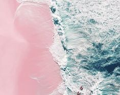Aerial Beach Photography, contemporary large wall art by IngridBeddoes Blue Wall Decor, Pink Sand Beach, Beach Scenery, Photo Print, Beach Wall Art, Art Original, Beach Print, Sand Art, Art Themes