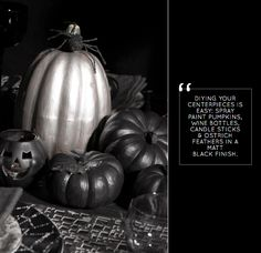 Tablescape 101: Monochrome Halloween Bash