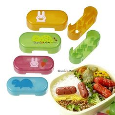 Japanese Bento Cute Food Wiener Cutter Rabbit and Turtle 4 design