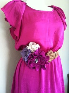 Dark Fuschia and lilac fascinator by StunningByDesign