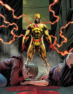 Batman and The Flash covers by Jason Fabok look fucking awesome! The return of Flashpoint Batman aka Dr. Thomas Wayne and Reverse Flash who apparently survived getting stabbed in the back by. Marvel Comics, Comics Anime, Flash Comics, Hq Marvel, Dc Comics Art, Reverse Flash, Comic Villains, Dc Comics Characters, Flash Art