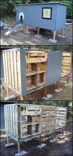 Chicken Coop - How to Build a Chicken Coop From Recycled Pallets theownerbuilderne... Building a chicken coop doesn't have to be expensive! This chicken coop made from repurposed pallets is a perfect example. Building a chicken coop does not have to be tricky nor does it have to set you back a ton of scratch.