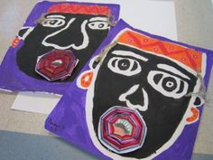 33 New Ideas Black History Projects For Graders 3rd Grade Art Lesson, Third Grade Art, Grade 3, African Art Projects, Kindergarten Art Projects, Africa Art, History Projects, Art Lessons Elementary, Sewing Art