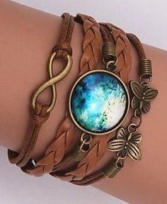 Galaxy Moon Wrap Bracelets //