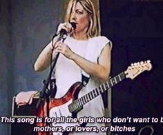 "snowce: Kim Gordon, ""Female Mechanic Now on Duty"", 1998 Kim Gordon, Riot Grrrl, Kurt Cobain Frases, Kurk Cobain, Series Quotes, Tv Quotes, Woman Mechanic, Janis Joplin, Patriarchy"