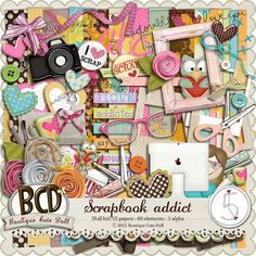 Scrapbook Addict by Boutique Cute Doll at After Five Designs