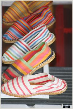 Love the stripes of espadrilles