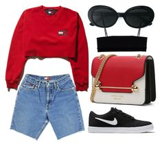 """#534"" by mora-143 ❤ liked on Polyvore featuring NIKE, Yves Saint Laurent and Alexander Wang"