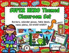 Super Hero Themed Classroom Decor Resources