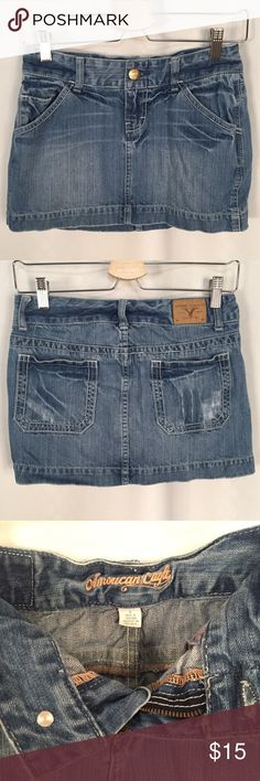 American Eagle 🦅 Jean Mini Skirt Size 0 Z American Eagle Outfitters Skirts Mini