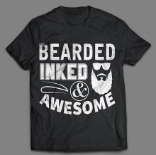 BEARDED AND INKED T-SHIRT