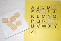 Toddler Activities: Learn Letters, Letter Sounds and Words with Organic Letter of the Day Cookies