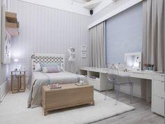 Quarto da menina blogueira projeto : Anexo arquitetura  móveis Casapronta Quartos  cama Trama baú Harmony mesa Barcelona bancada Giocca