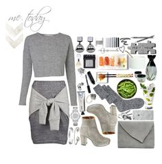 """I Survive on Sushi & Love"" by sarah-deslauriers ❤ liked on Polyvore featuring Madewell, L:A Bruket, ASOS, Martha Stewart, Michael Kors, Alexander McQueen, Cartier, Lepel, NARS Cosmetics and Jennifer Loiselle"