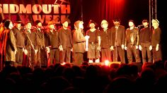 """The Spooky Men's Chorale sing """"We're here"""" at Sidmouth Folk Week 2013"""