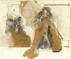 "Saatchi Art Artist Ute Rathmann; Collage, ""Hommage à Beardsley II - SOLD"" #art"