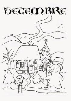 danger école: affichages utiles en vrac Season Calendar, Calendar Time, Outdoor Christmas, Christmas Crafts, Christmas Houses, Christmas Patterns, Weather For Kids, French Christmas, Seasons Of The Year