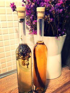 Homemade vanilla and lavender essences