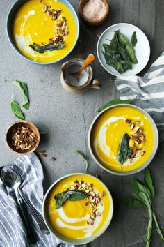 We've rounded up five flavoursome and warming soup recipes to get you through those cold winter nights.  1. Creamy TahiniAnd Lemon Asparagus Soup    View the Original Post / Follow Dolly And Oatmeal