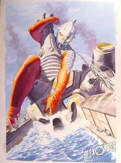 TigerRoll, kaijucast: Apparently these Alex Ross paintings...