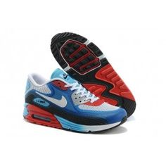 brand new 6b825 afbc5 Air Max 90 Bleu Rouge Noir Soldes Pas Cher Chaussure Nike Air, Chaussures  Nike,