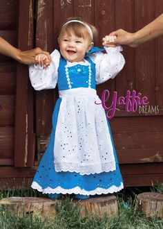 Belle Peasant Dress Beauty and the Beast Disney halloween costume blue gown - Girls Princess Belle Peasant Dress blue white summer gown Disney Beauty and The Beast outfit for Halloween Christmas photoshoot cotton for girl. Birthday gift ideas  baby #disney #disneyland #princess #beauty #belle #peasant #dress #gown #outfit #beast #cotton #summer #etsy #lace #baby #girl #kid #cute #beautiful #blue #bow #disneyprincess #halloween #costume #ideas #photo #prop #smile #happy