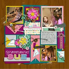 Digital Scrapbook Layout using Singleton 18 - Happenstance template by Brook Magee and Best Day Ever by Brook Magee and Studio Basic Designs